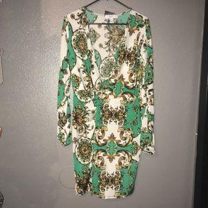 Forever 21 Plus size Baroque Twist Front Mini Dres